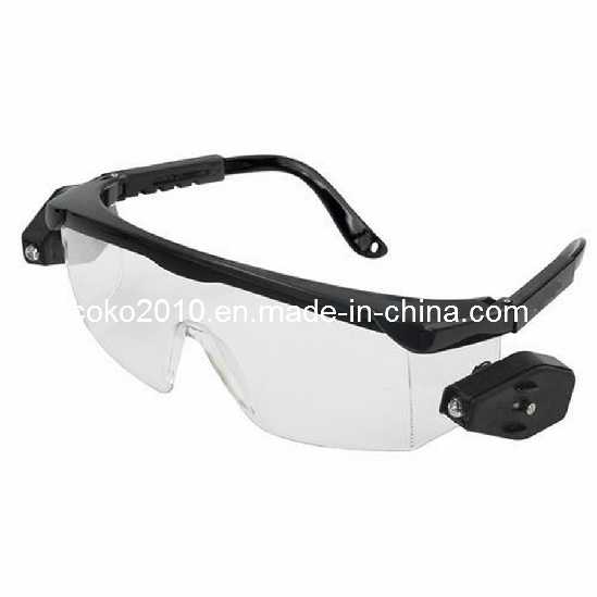 High Grade Quality Z87 Safety Goggles with LED Light