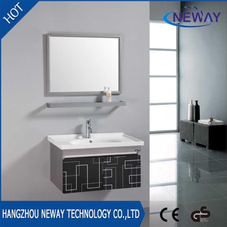 China New Wall Mounted Steel Bathroom Washbasin Cabinet With Mirror   China Bathroom  Cabinet, Bathroom Vanity