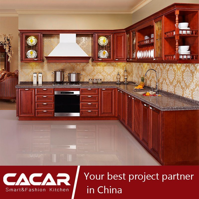 China Pittsburgh European Classic Red Cherry Wood Lacquer Kitchen Cabinet Ca14 06 China Furniture Kitchen Furniture