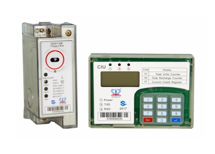 [Hot Item] Single / Three Phase Sts DIN Rail Keypad Prepaid Energy Meter
