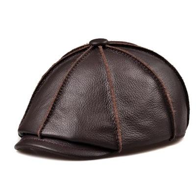7dcc2e570fc2c China Custom Brown Black PU Winter Visor Hat Men′s Blank Fashion IVY ...