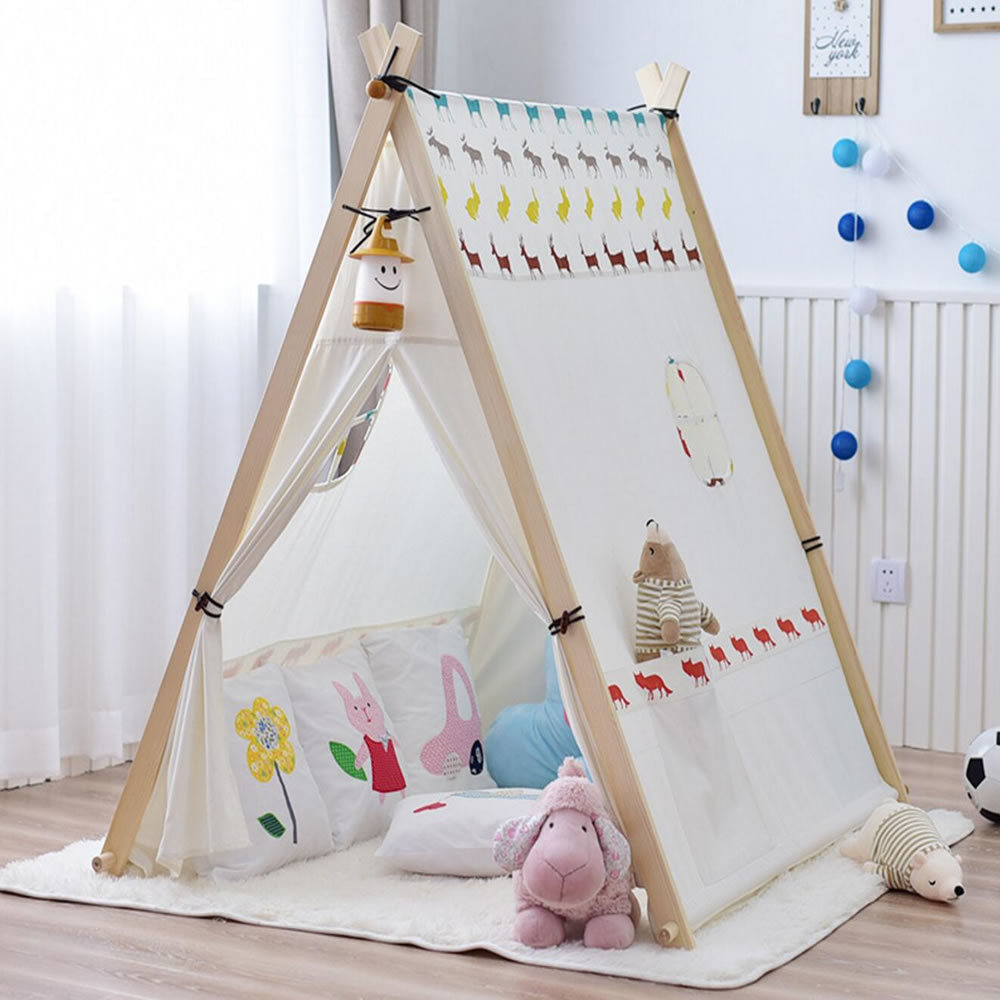 China Indoor Canvas Cotton Kids Tent Indian Teepee Tipi Tent - China ...
