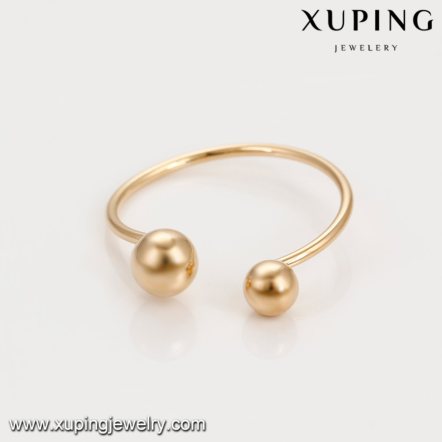 China 14902 Fashion Simple Gold Ring Without Stone Wholesale 18K ...