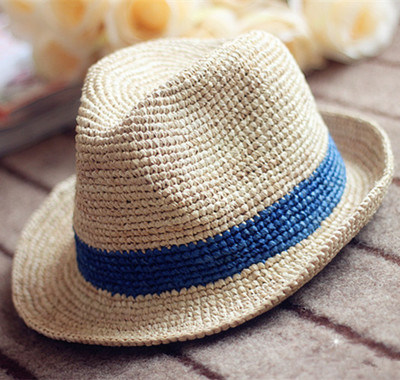 43994d70807 China Custom Beach Summer Fedora Hat Men Paper Straw Hat Photos ...