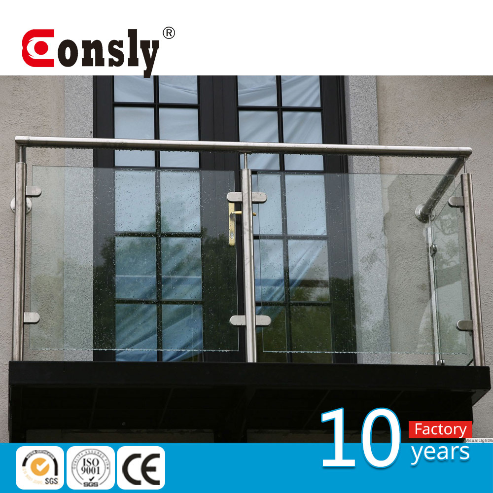 China Aisi Stainless Steel Outdaoor Indoor Modern Glass Railing
