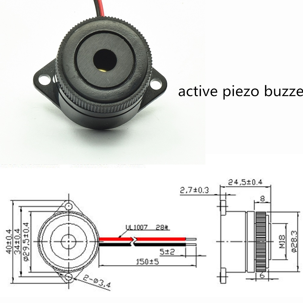 Piezo Buzzer Wiring Diagram Trusted Diagrams China Wire 100db Working Of 30mm Rohs Photos Motor