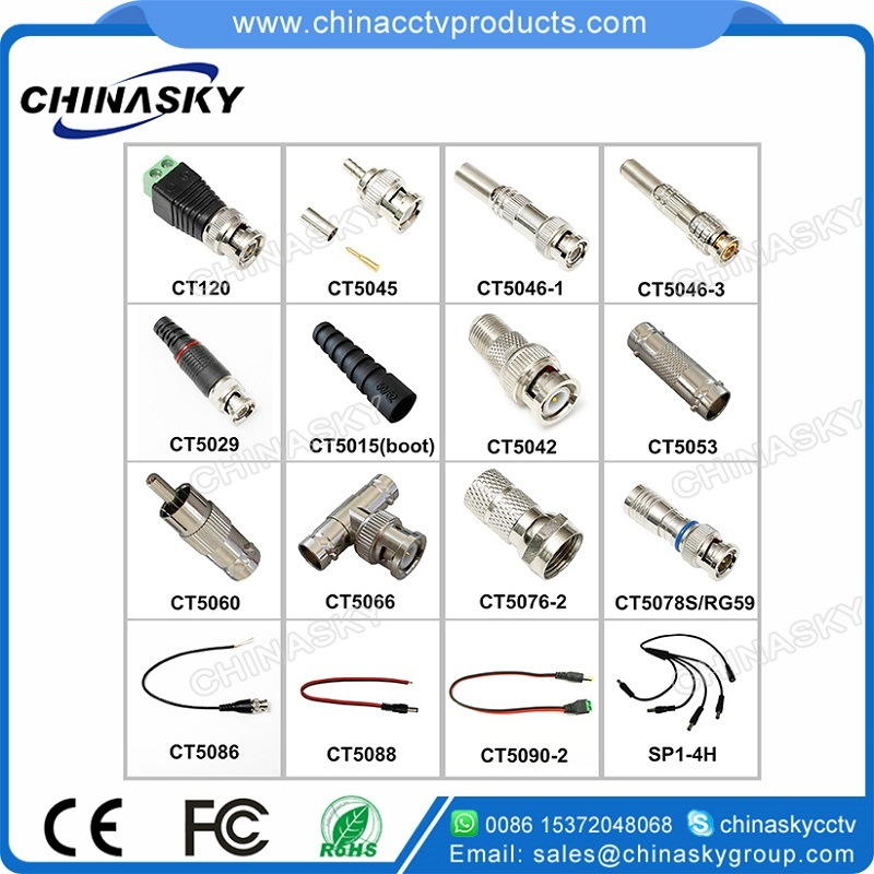 Hot Sell CCTV Coaxial Cable BNC Male Crimp Connector (CT5045) pictures & photos