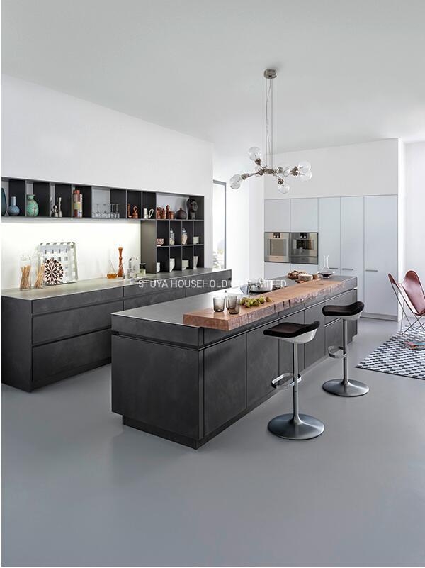 China Modern Design Home Furniture Black Uv Board Kitchen Cabinet With Storage China Kitchen Kitchen Cabinet