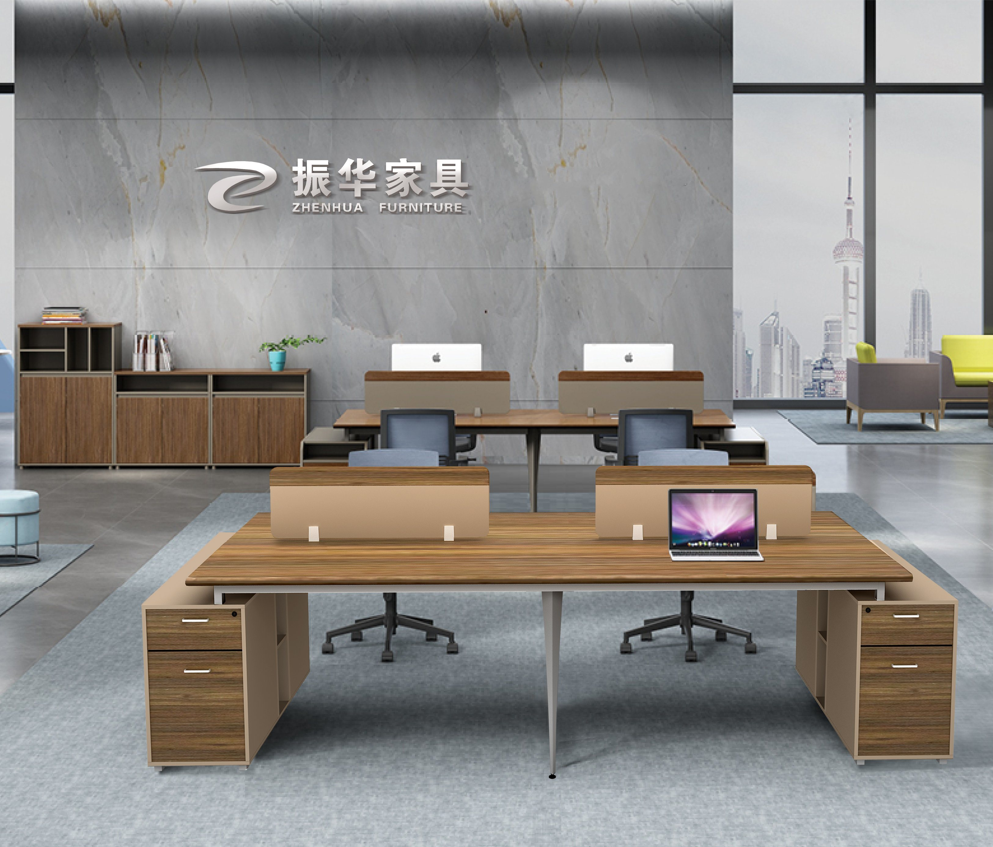 China Latest Design Workstation Office Workstation Standard Sizes Of Office Furniture China Office Workstation Cubicle
