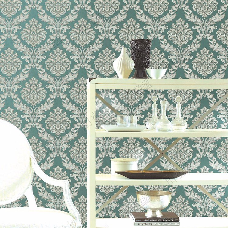 China Damask Classic Living Room Moisture Proof And Waterproof Pvc