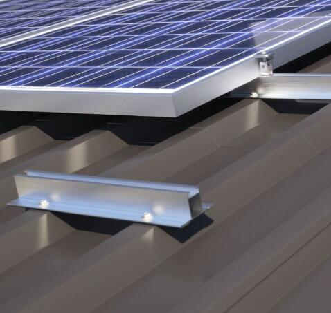 Anodized Aluminum Corrugated Metallic Roof Solar Mounting System