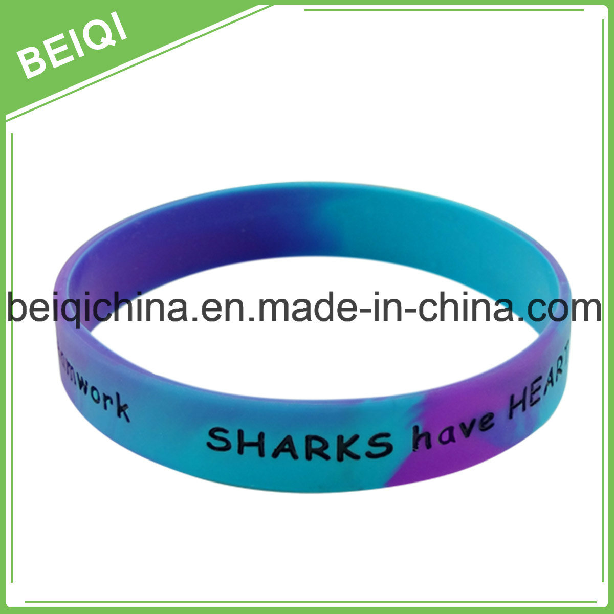 Customized Silicone Bracelet with Color Filledin