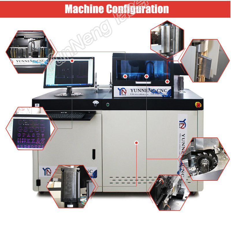 Multifunction Automatic CNC Metal Channel Letter Bending Machine with Ce/FDA/SGS