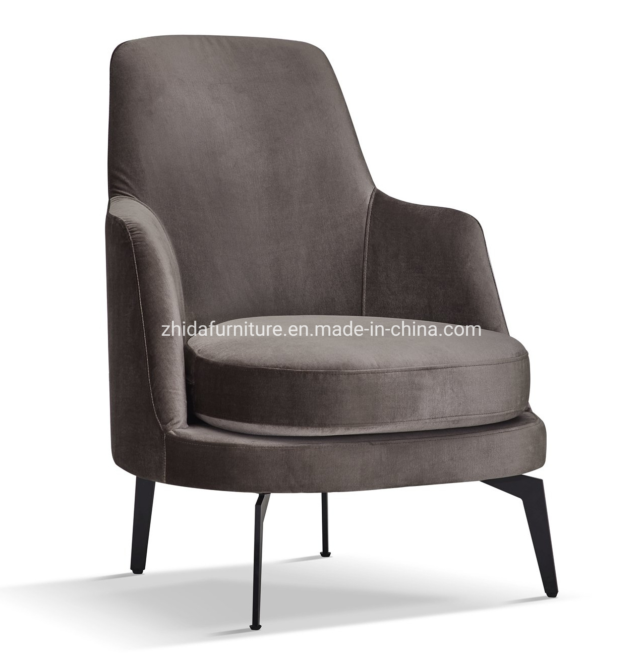 Picture of: China Hot Sales Velvet Armchair Accent Chair With Metal Legs For Living Room China Velvet Armchair Accent Chair