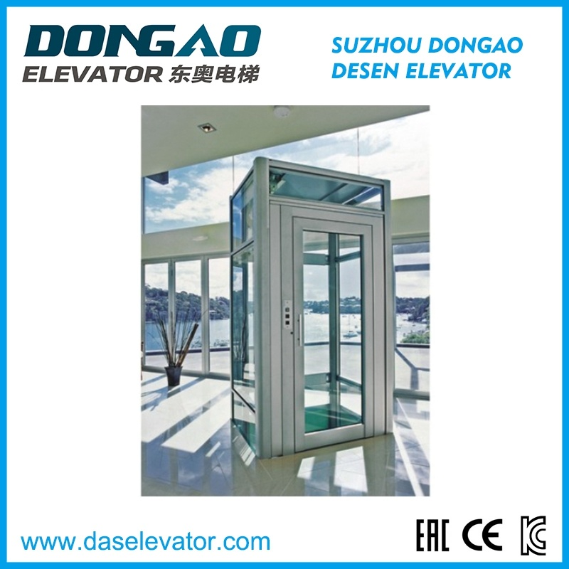 High Quality Glass Sightseeing Panoramic Observation Elevator with Vvvf Device