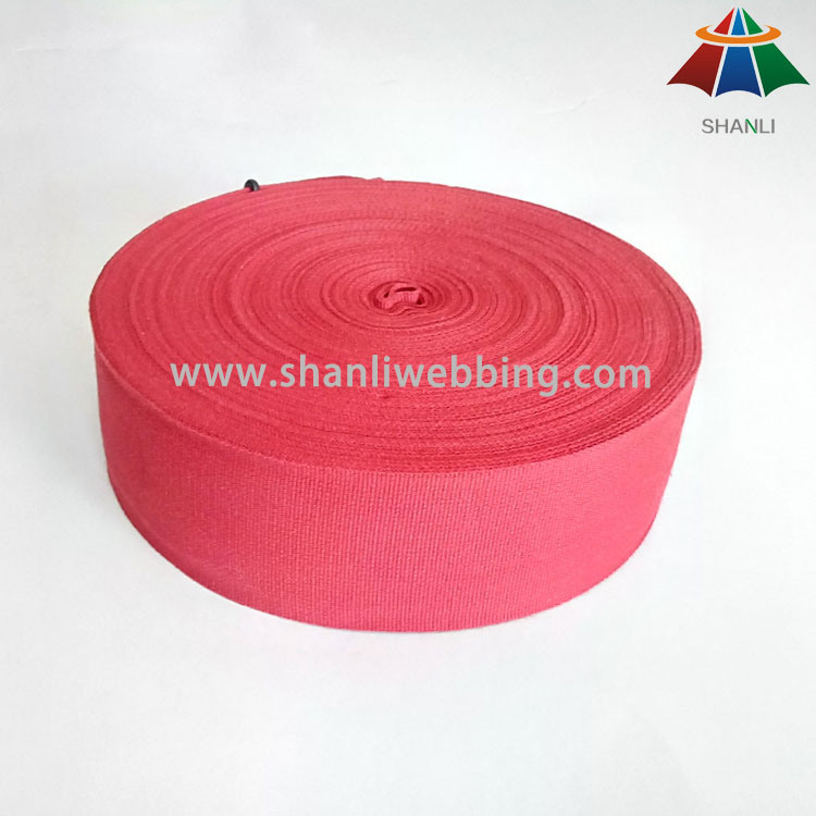 Colorized 100% Organic Eco-Friendly Pure Cotton Tape Webbing for Bags and Garments