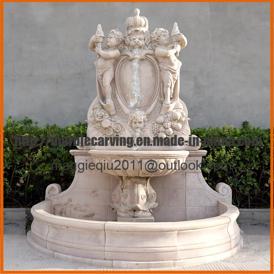 Antique Water Marble Wall Fountain