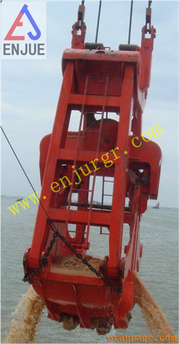Undewater Ropes Dredging Clamshell Grab Bucket on Ship pictures & photos