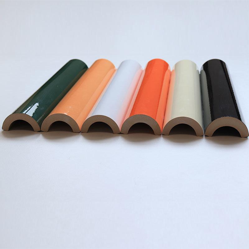 30cm Length Semicircle Moulding Ceramic Tile Trim Bathroom Accessories China Border Tiles Bullnose Tile Made In China Com