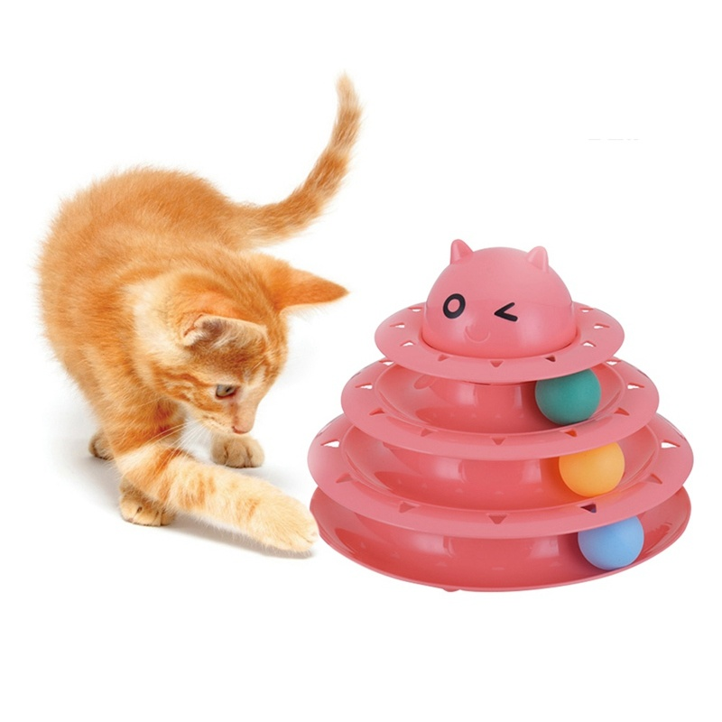 Pet Toys Plastic Pet Supply Three-Layer Turntable Track Cat Toy pictures & photos
