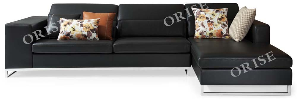 [Hot Item] Home Furniture Standard Configurable Leather Sectional Sleeper  Sofa with Chaise