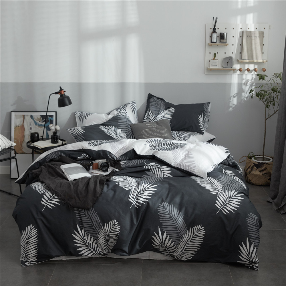 China Home Textile Por New Design Active Printing Best Quality Natural Cotton Bedding Set