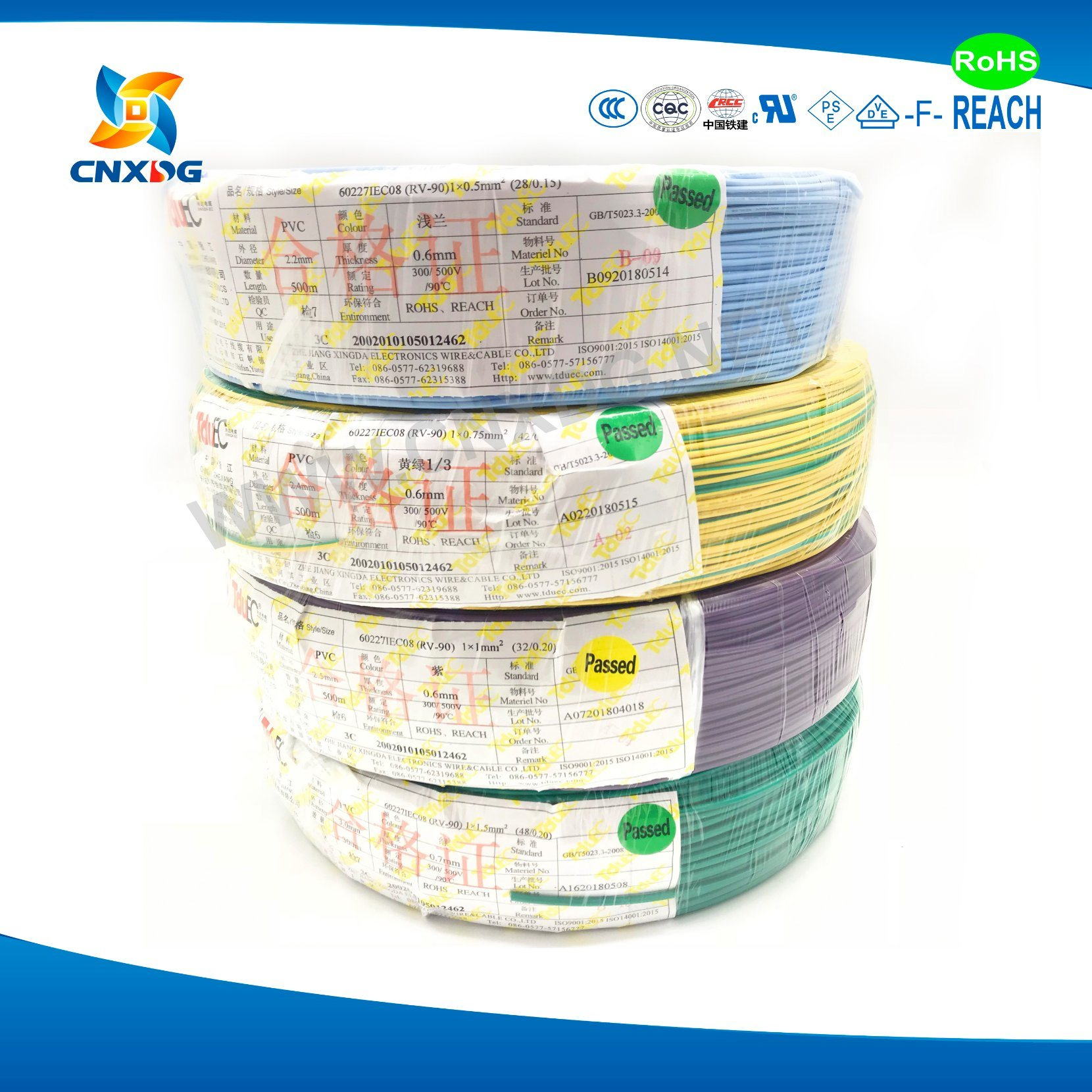 China Non Sheathed Cable And Wire Ccc 60227 Iec 08 Rv 90 10 Mm2 Harness Sheathing