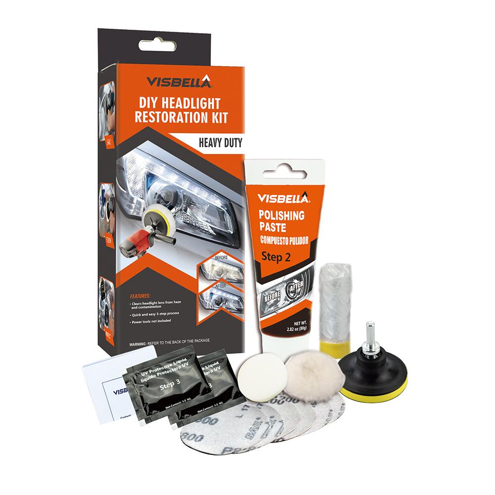 Ce Certified Headlight Restoration DIY Sandpaper Quick Repair