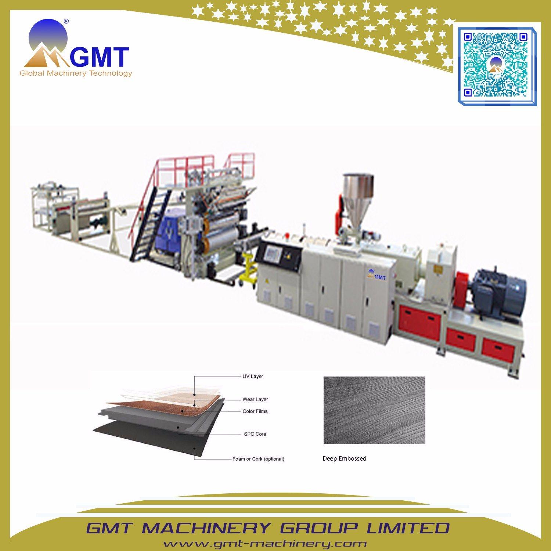 China Environmental Stone Plastic Composite Spc Flooring Tile Making