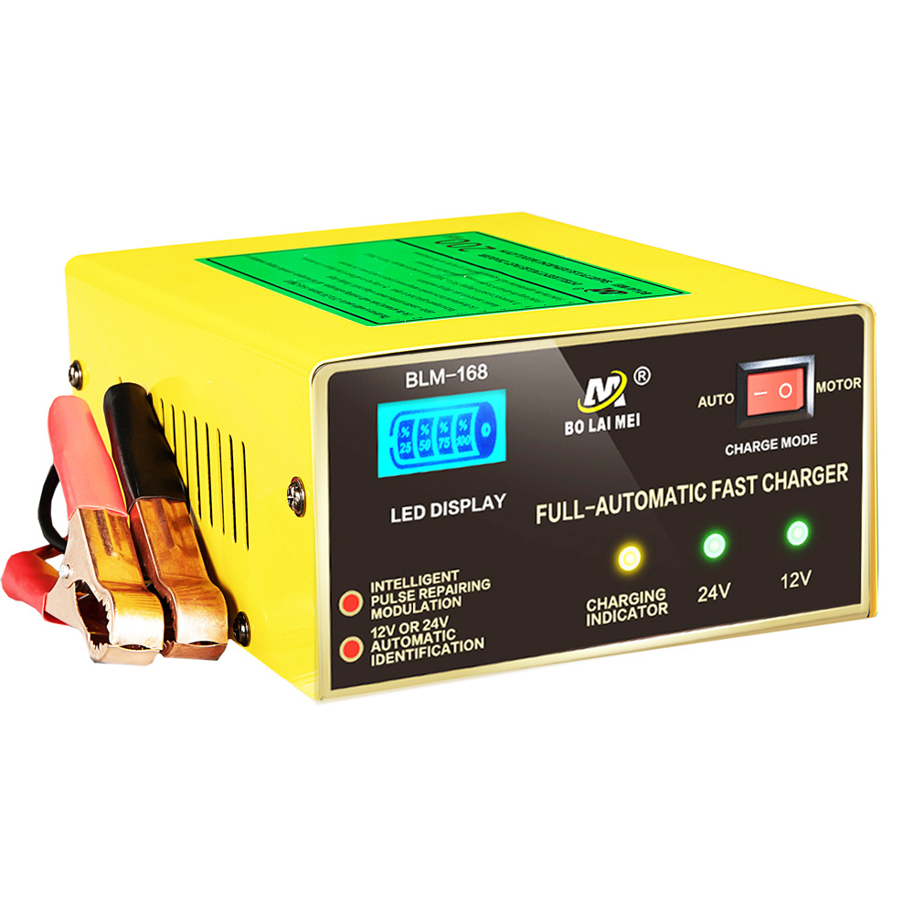 Car Motorcycle Full Automatic Intelligent Pulse Lead Acid Quick Battery Charger