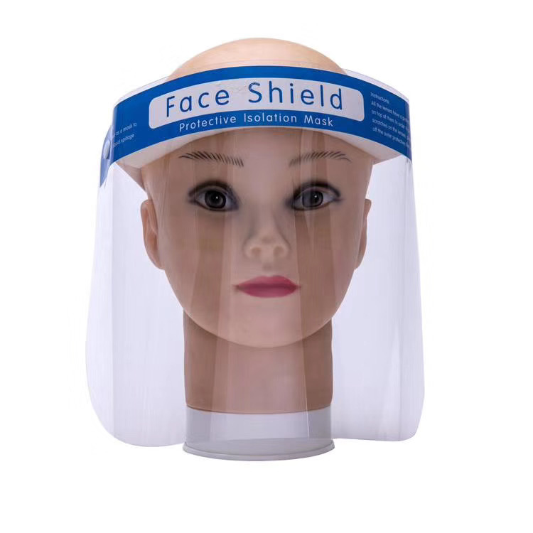 China Disposable Safety Face Shield Fluid Resistant Full Face Mask Transparent Single Use Mask Visor Protection Plastic Face Shield - China Safety Face Shield