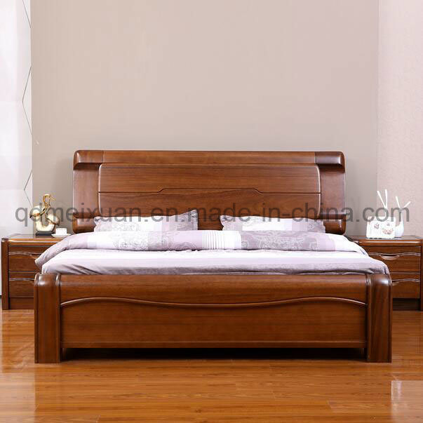 Solid Wooden Bed Modern Double Beds