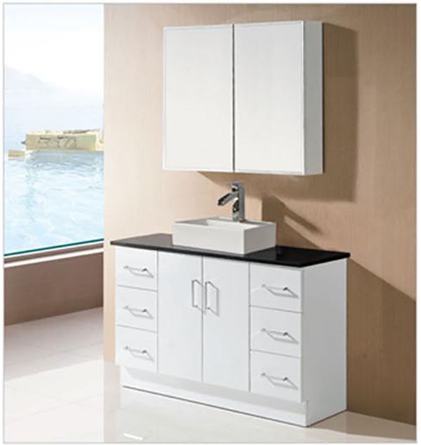 China Bathroom White Mdf Wooden