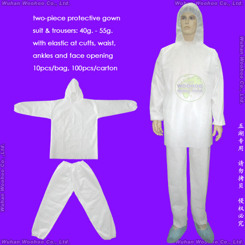 Waterproof Surgical/Medical/Hospital/Plastic/Polyethylene/Poly/PE/HDPE/LDPE/PP+PE/PP/SMS/Polypropylene Nonwoven Disposable Protective Gown, Disposable Coverall