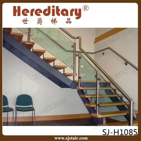 Indoor Stainless Steel Deck Black Glass Railing And Glass Stair Railing Cost