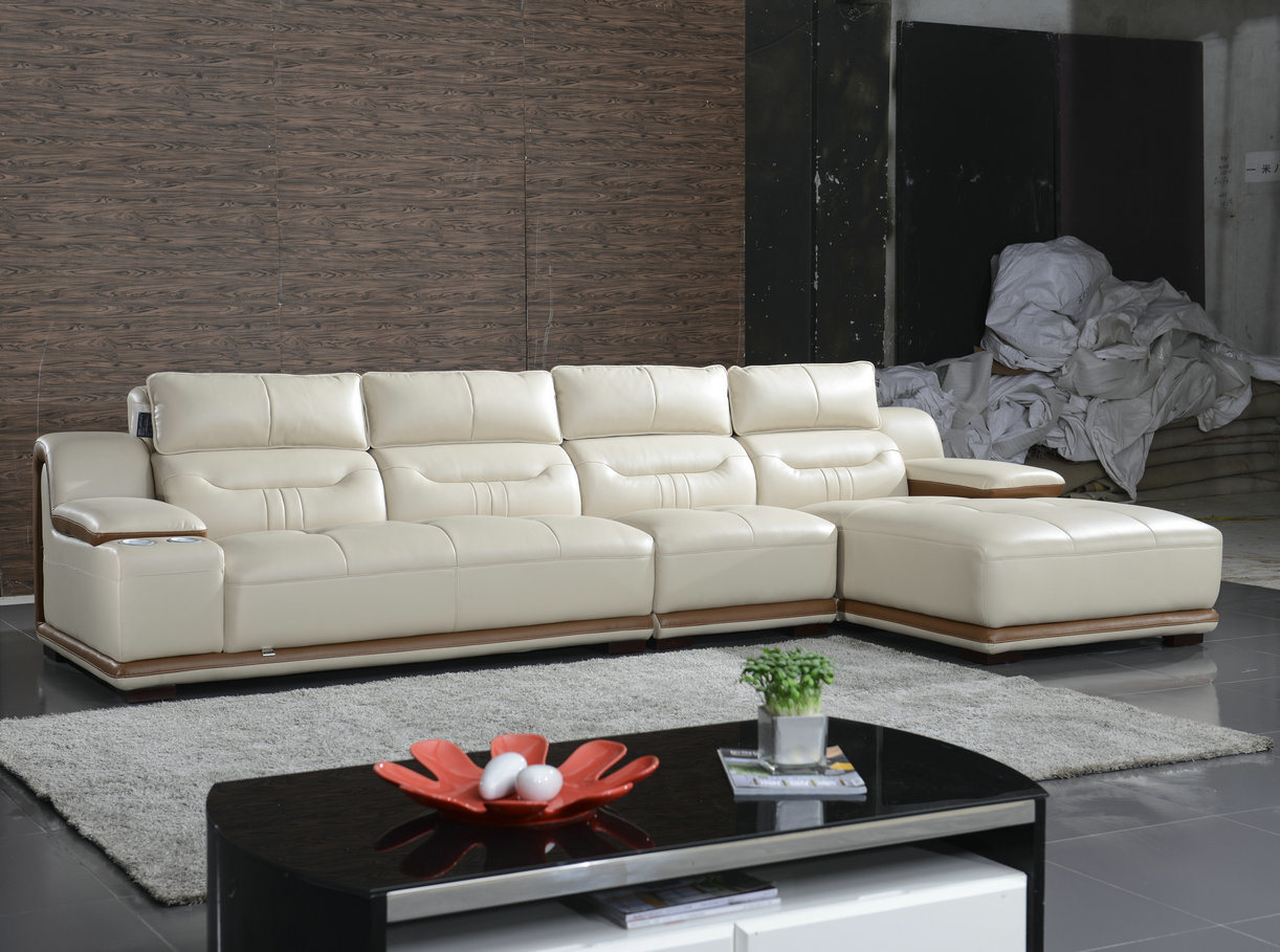 China Cream Color L Shape Living Room