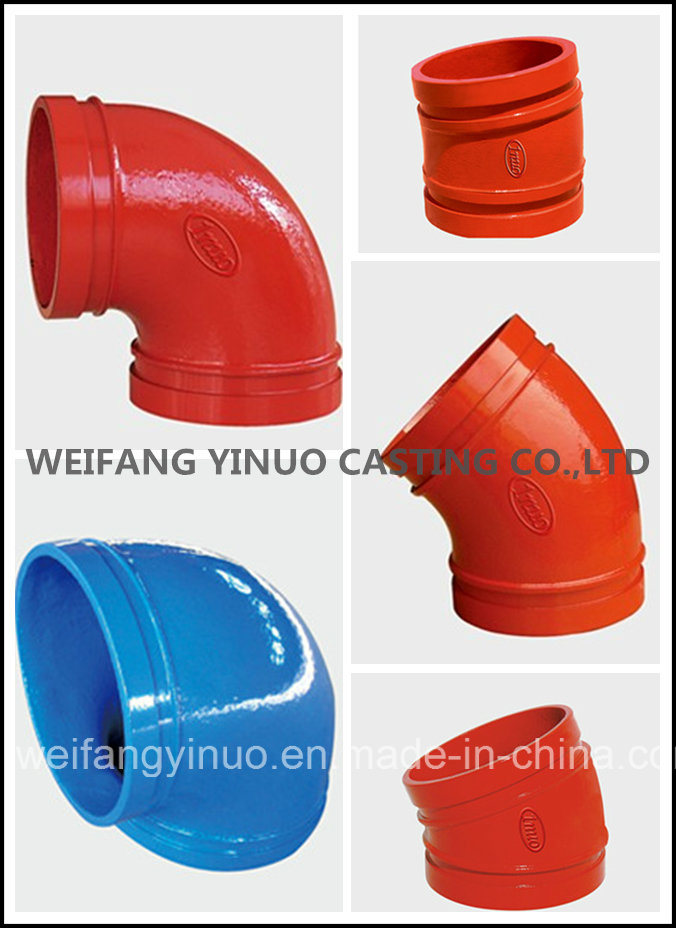 FM/UL Approved Ductile Iron 90 Degree Grooved Elbow