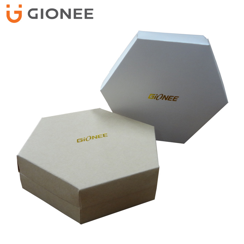 Hot Stamping Hexagonal Paper Folding Gift Box for Cosmetics