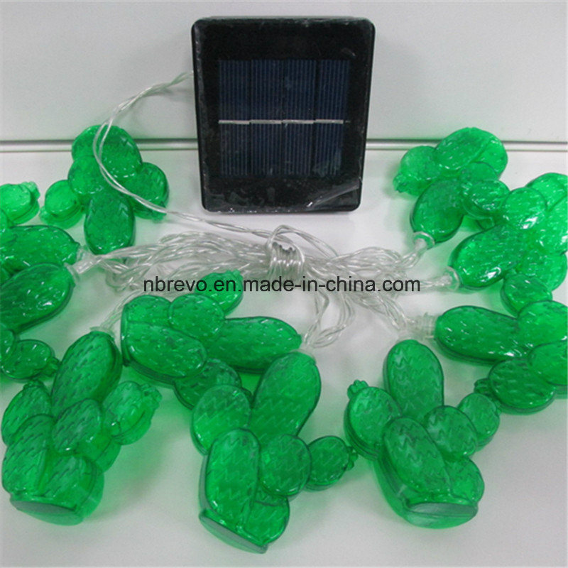 10 LED Solar Powered Cactus String Light (RS1026) pictures & photos