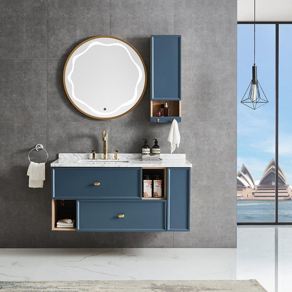 China European Luxury Design Marble Countertop Bathroom Vanity Cabinets Modern Bath Room Furniture China Bath Room Furniture Bathroom Furniture