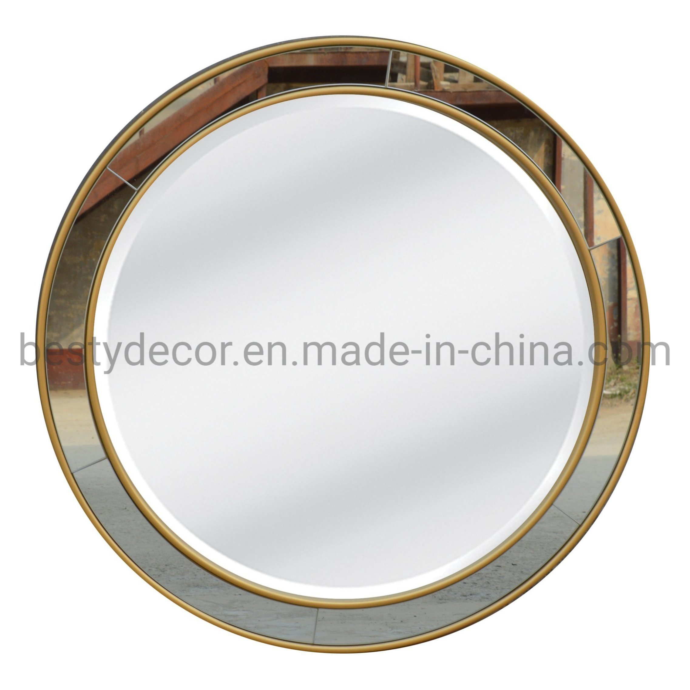 Hot Item Round Circular Home Decorative Hanging Framed Mirror