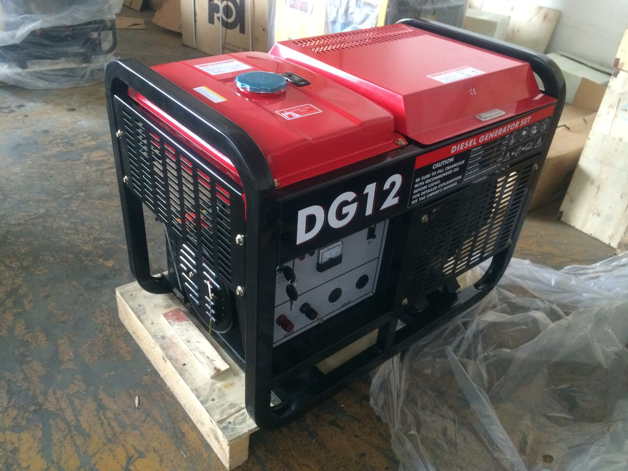 China 10kVA 10kw Open Type Diesel Portable Generator for Home Use