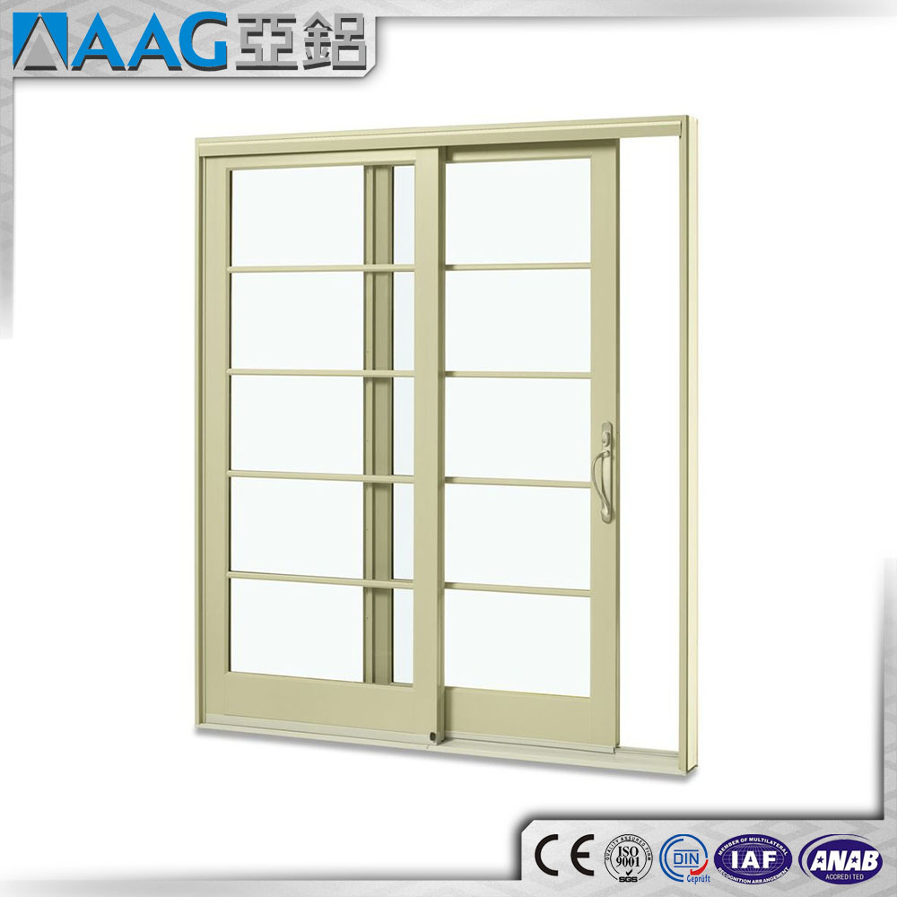 China Thermal Break Aluminum Double Glazing Sliding Doors Photos