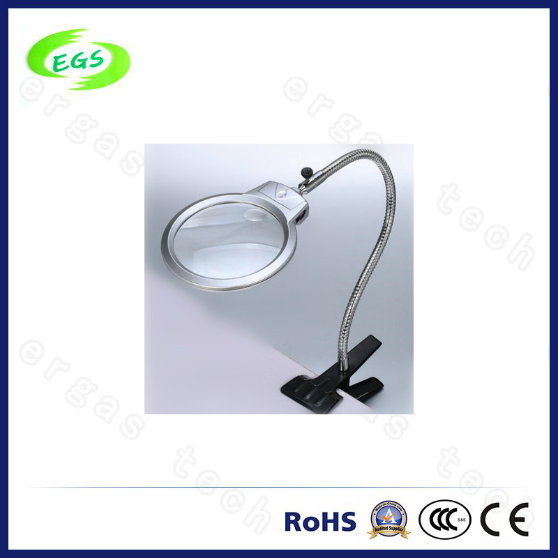 LED Light Handle Desk Clamp Magnifier Lamp/Loupe for Beauty Salons