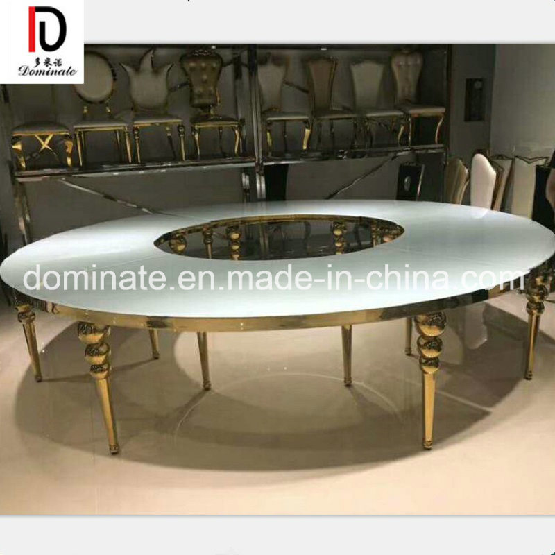 Astounding Hot Item Modern Luxury Mirror Glass Top Rectangle Round Gold Stainless Steel Wedding Table For Dining Room Hotel Restaurant Banquet Home Remodeling Inspirations Basidirectenergyitoicom