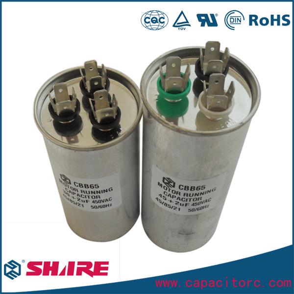 China Ac Motor Run Air Conditioner Cbb65 Capacitor Dual