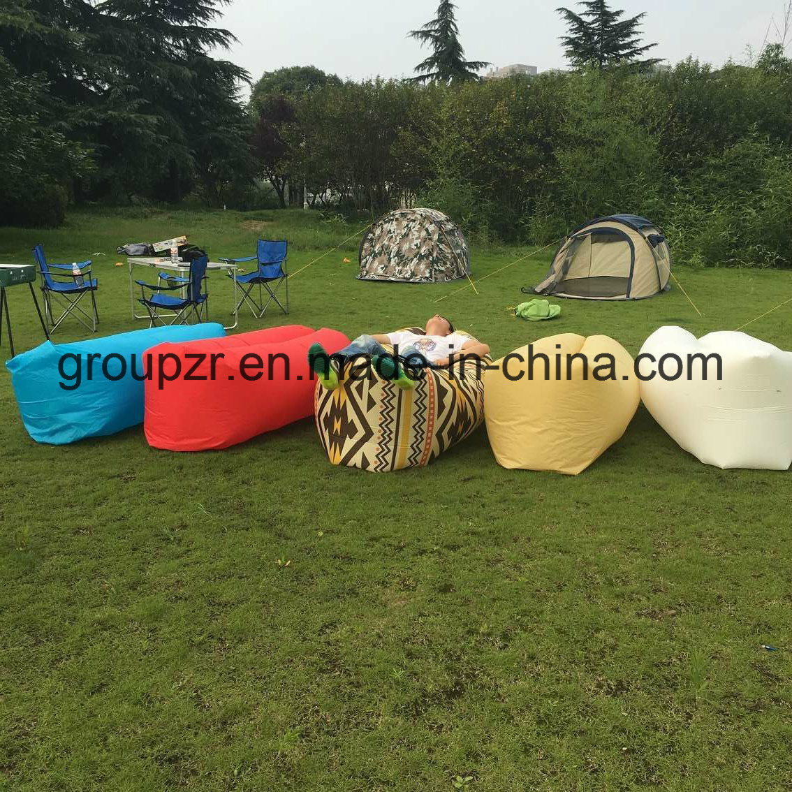 Inflatable Outdoor Sleepingbag Portable Lazy Air Sofa pictures & photos