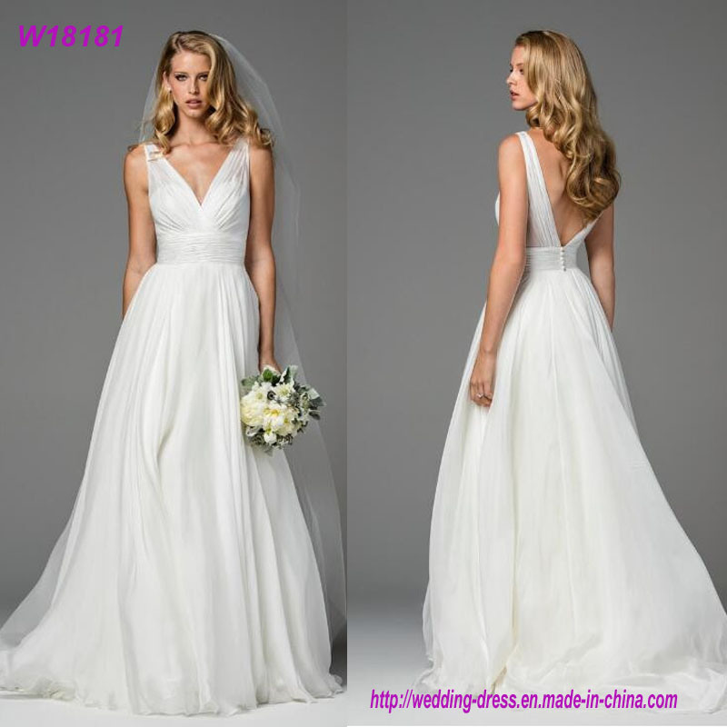 44a5dbc52a0 China Sexy Sweetheart Simple But Elegant Wedding Dress Vera Organza Wang  Wedding Dress - China Wedding Dress