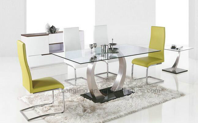 Hot Item Low Price High Quality New Gl Dining Table With 6 Chair