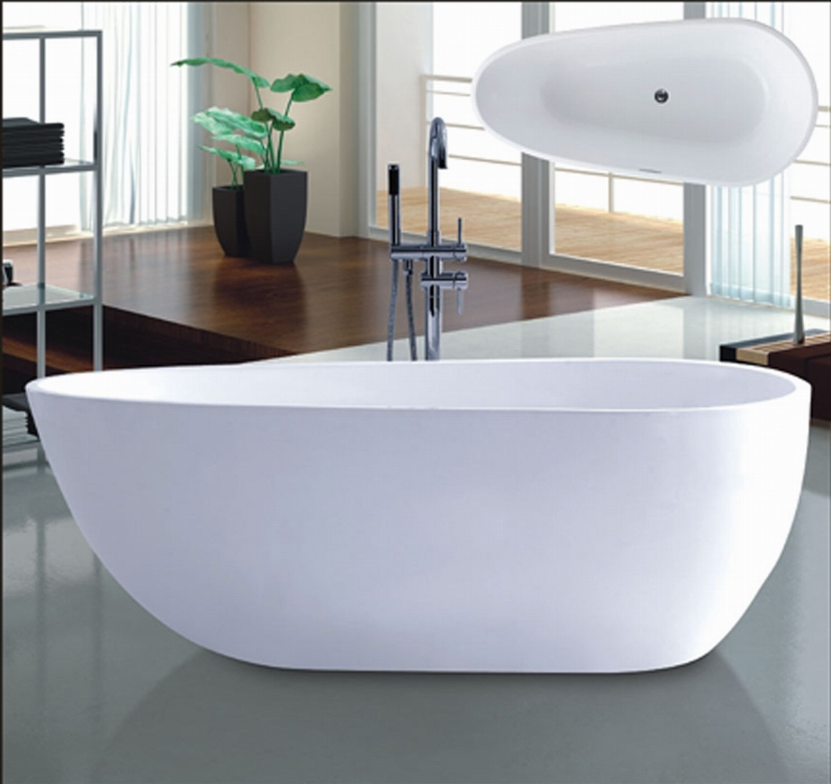New 1700mm Ellipse Freestanding Bathtub SPA for Villa (AT-6181)